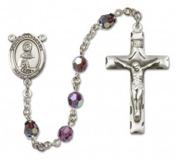 St. Anastasia Sterling Silver Heirloom Rosary Squared Crucifix [RBEN0075]