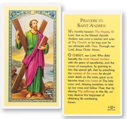 St. Andrew Laminated Prayer Cards 25 Pack [HPR404]
