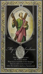 St. Andrew Medal in Pewter with Bi-Fold Prayer Card [HPM011]