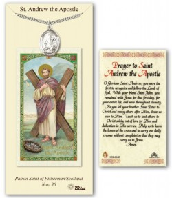 St. Andrew the Apostle Medal in Pewter with Prayer Card [BLPCP007]