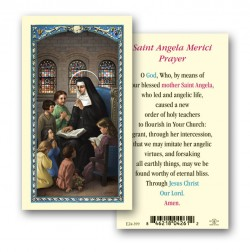 St. Angela Laminated Prayer Cards 25 Pack [HPR399]