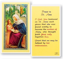 St. Anne Laminated Prayer Cards 25 Pack [HPR611]