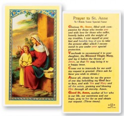 St. Anne, Prayer Obtain Favor Laminated Prayer Cards 25 Pack [HPR612]