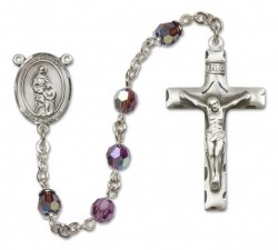 St. Anne Sterling Silver Heirloom Rosary Squared Crucifix [RBEN0080]