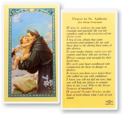 St. Anthony, Divine Protection Laminated Prayer Cards 25 Pack [HPR302]
