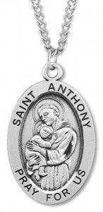 St. Anthony Medal Sterling Silver [HMM1097]