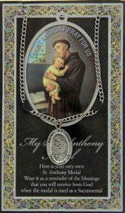 St. Anthony Medal in Pewter with Bi-Fold Prayer Card [HPM003]