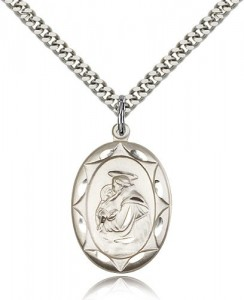 Men's Oval Scalloped Edge St. Anthony Medal [BM0640]