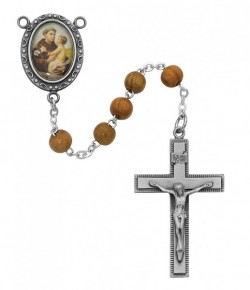 St. Anthony Olive Wood Rosary [MVER002]