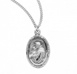 St. Anthony Oval Medal Sterling Silver [REM2043]