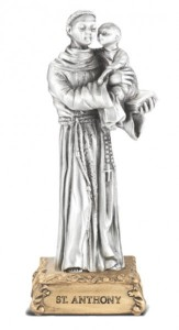 Saint Anthony Pewter Statue 4 Inch [HRST300]