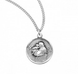 St. Anthony Round Medal Sterling Silver [REM2041]