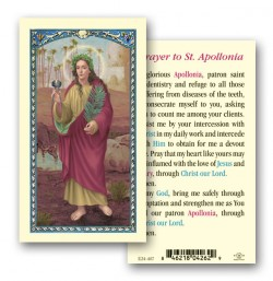 St. Apollonia Laminated Prayer Cards 25 Pack [HPR407]