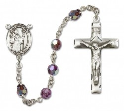 St. Augustine Sterling Silver Heirloom Rosary Squared Crucifix [RBEN0087]