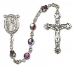 St. Austin Sterling Silver Heirloom Rosary Fancy Crucifix [RBEN1089]