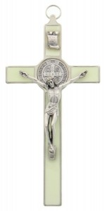 "Glow In the Dark St. Benedict Enamel Crucifix 7.5"" [SFA0021]"