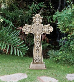 "St. Benedict Garden Cross 24"" High [CBSD002]"