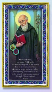 St. Benedict Italian Prayer Plaque [HPP023]