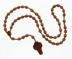 St. Benedict Wood 5 Decade Rosary - 10mm [RB3911]