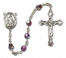 St. Bernadine Sterling Silver Heirloom Rosary Fancy Crucifix [RBEN1098]