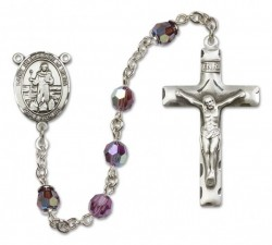 St. Bernadine Sterling Silver Heirloom Rosary Squared Crucifix [RBEN0098]