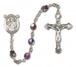 St. Boniface Sterling Silver Heirloom Rosary Fancy Crucifix [RBEN1103]
