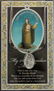 St. Brendan the Navigator Medal in Pewter with Bi-Fold Prayer Card [HPM014]