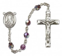 St. Bridget of Ireland Sterling Silver Heirloom Rosary Squared Crucifix [RBEN0106]
