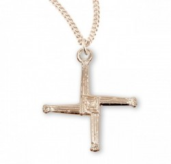 St. Brigid Gold Plated Cross Pendant [HMCR1017]