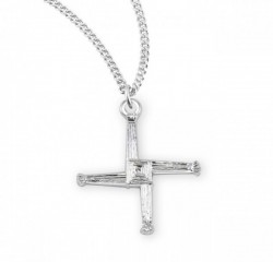 St. Brigid Sterling Silver Cross Pendant [HMCR1016]