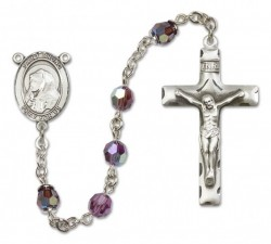 St. Bruno Sterling Silver Heirloom Rosary Squared Crucifix [RBEN0107]