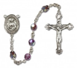 St. Catherine Laboure Sterling Silver Heirloom Rosary Fancy Crucifix [RBEN1110]