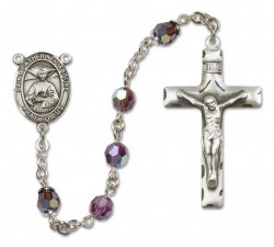 St. Catherine Laboure Sterling Silver Heirloom Rosary Squared Crucifix [RBEN0110]
