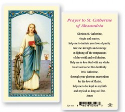 St. Catherine of Alexandria Laminated Prayer Cards 25 Pack [HPR415]