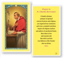St. Charles Laminated Prayer Cards 25 Pack [HPR424]