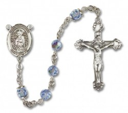 St. Christina the Astonishing Sterling Silver Heirloom Rosary Fancy Crucifix [RBEN1120]