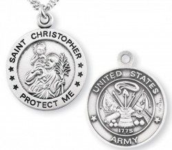 St. Christopher Army Medal Sterling Silver [REM1000]