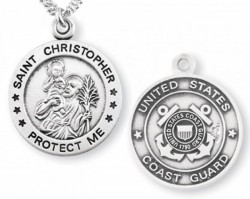 St. Christopher Coast Guard Medal Sterling Silver [REM1008]