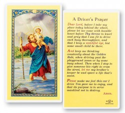 St. Christopher Driver's Laminated Prayer Cards 25 Pack [HPR624]