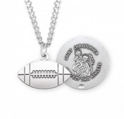 St. Christopher Football Medal Sterling Silver [HMM1061]