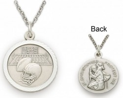 St. Christopher Football Sports Medal with Chain [SM0041]