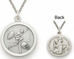 St. Christopher Football Sports Medal with Chain [SM0042]