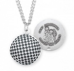 St. Christopher Golf Medal Sterling Silver [HMM1070]
