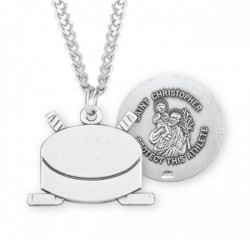 St. Christopher Hockey Medal Sterling Silver [HMM1058]