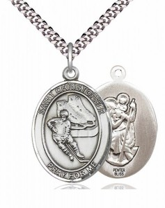 St. Christopher Ice Hockey Medal [EN6521]