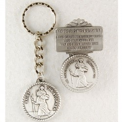 St. Christopher Matching Key Ring and Visor Clip Set [AU0080]
