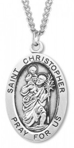 St. Christopher Medal Sterling Silver [HMM1103]