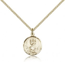 Women's Petite Lighthouse St. Christopher Necklace [CM2224]