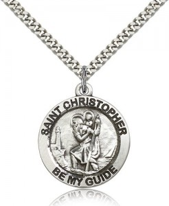 Men's Be My Guide St. Christopher Necklace [BM0672]
