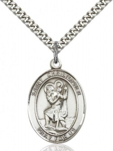 St. Christopher Oval Medal [EN6047]